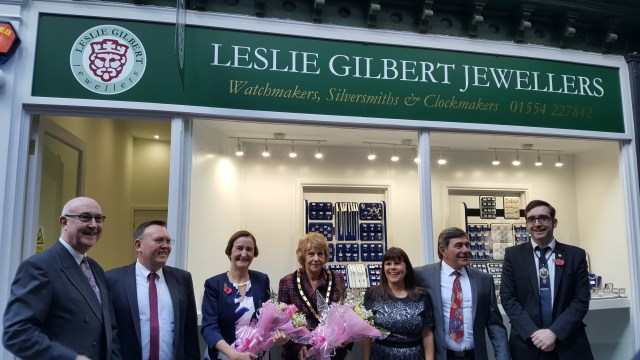 Nia Griffith MP at opening of new businesses