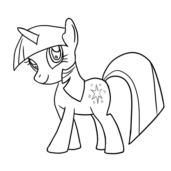 Twilight sparkle drawing tutorial step by step