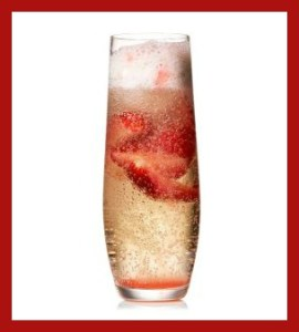 Strawberry Champagne Float