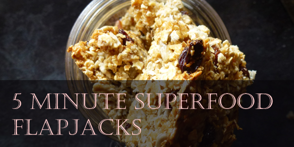 5 minute superfood flapjack recipe