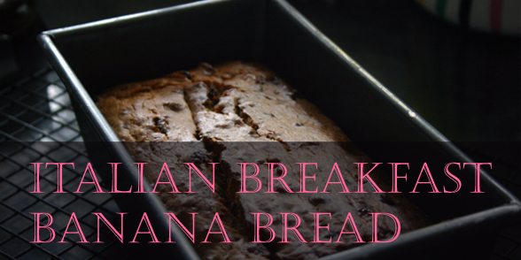 Using left-over bananas: Italian breakfast banana bread