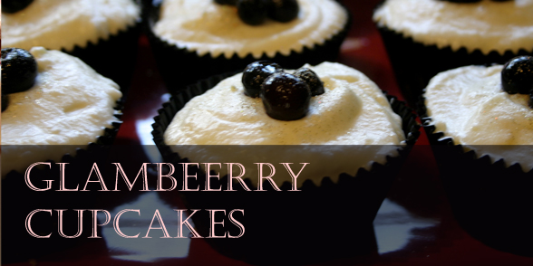 Glamberry cupcakes