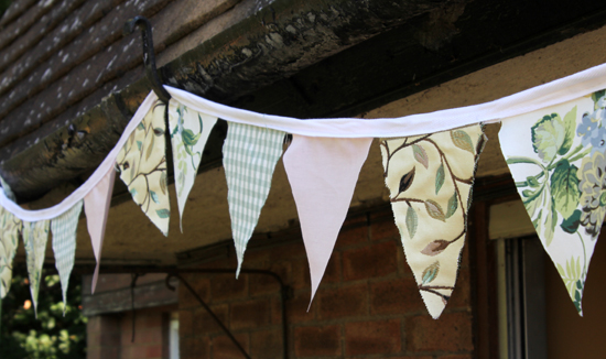 Making my own bunting