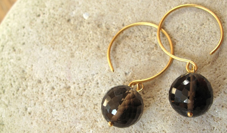 Win a Pair of Melinda Mulcahy Smoky Quartz Earrings