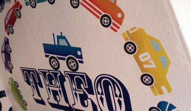 Boys Bedroom Ideas: A Car-Themed Wall Mural