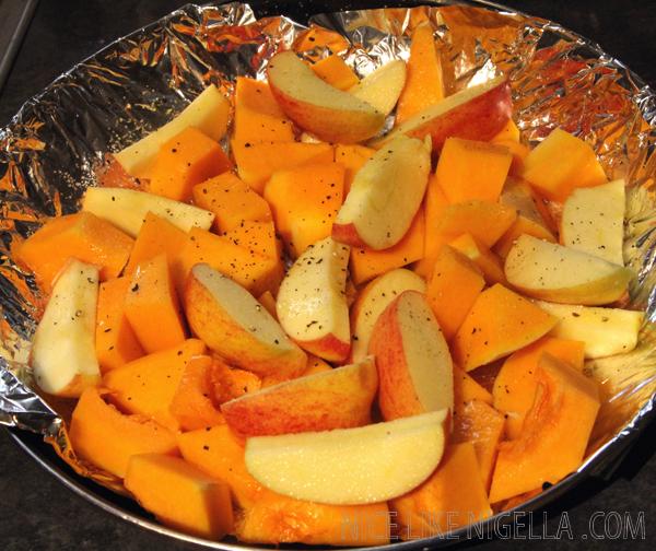 Roast squash and apple soup