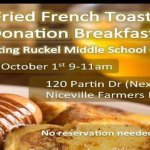 French Toast Donation Breakfast in Niceville Oct. 1