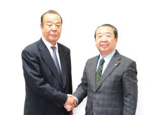 設楽社長(右)と白石社長