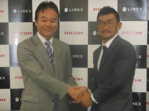 武田取締役(左)とTBMの山﨑社長