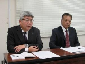 田中真文(左)と本間敏弘