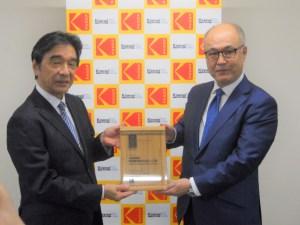 塚田社長(左)と藤原社長