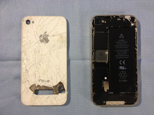 Back Phone Damage and internal components..