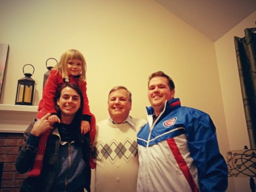 Ryan and I with our Dad and Lilly.