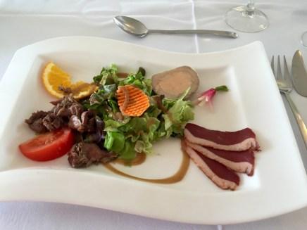 Salade perigourdine @ Grand Hôtel de Dunes, Lesconil