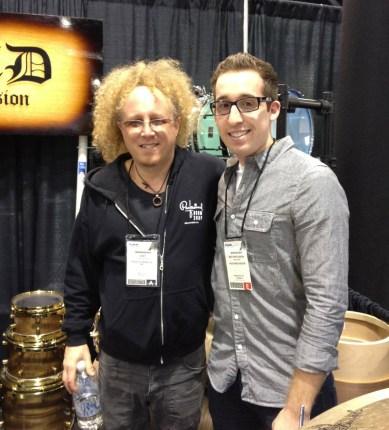Nick Costa and Jimmy Paxson, Jimmy Paxson, Nick Costa, NAMM 2012, NAMM
