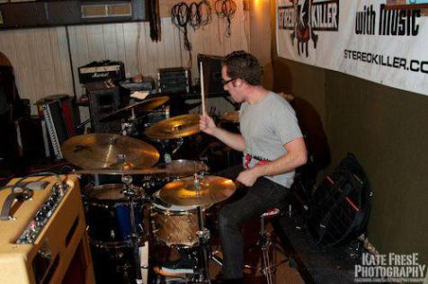 nick costa performing with modern suits at the polish club in phoenixville pa