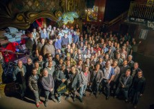 So surreal to be in a room with so many great drummers, but we're all family! From the Zildjian, Remo, Vic Firth Artist Party in NYC November 2014. I'm in the 3rd row around the center.