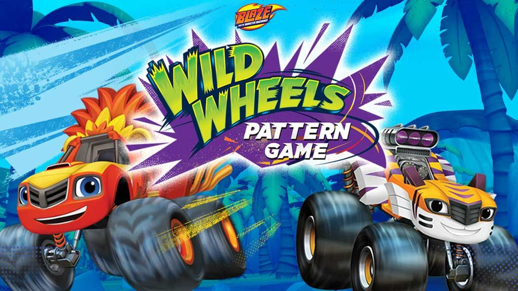 Blaze  Wild Wheels Pattern Game