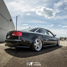 Bagged D3 Audi A8 on OZ Futura Wheels