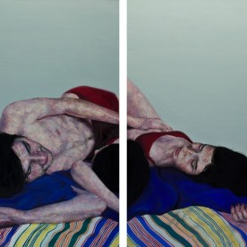 "Relationship Study #4 - 2 panels; each 66""x36"" - oil on canvas"