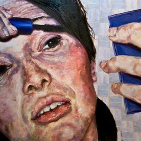 "SOLD - Mascara - 24""x48"" - oil on board"