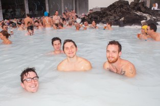 Vacationer at the Iceland Airwaves Blue Lagoon Chill Party