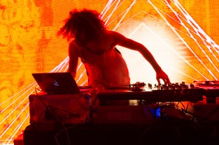 The Gaslamp Killer perfoming on the S.S. Coachella