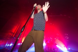 Yeasayer performs live on the S.S. Coachella