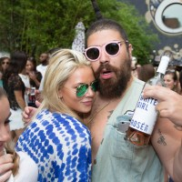 The Fat Jew + Babe Walker's White Girl Rosé Launch party at The Beach at the Dream Downtown on July 12, 2015