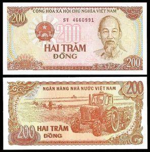 Vietnam 200 DONG 1987 P 100 UNC