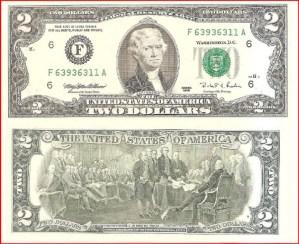 USA $2 1995 F