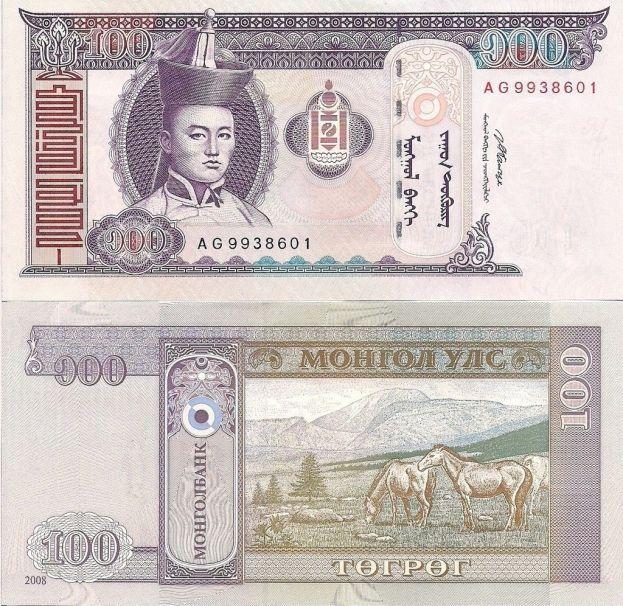 MONGOLIA 100 Tugrik 2008 UNC2