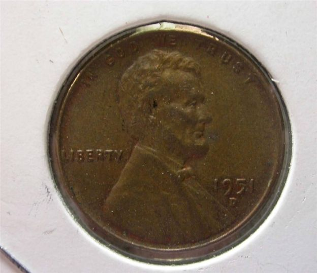1951 d wheat penny