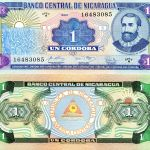 NICARAGUA 1 Cordobas Banknote World Paper Money UNC Currency BILL p173 1990 Note