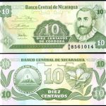 NICARAGUA 10 CENTAVOS 1991 P 169 UNC BANKNOTE