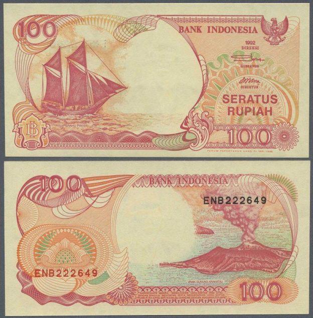 INDONESIA - P127g - 1992 Rupiah Banknote