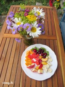 Obst auf der Terrasse hat auch was