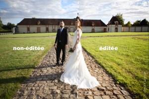 Différence entre une photographie non-éditée à gauche et éditée à droite