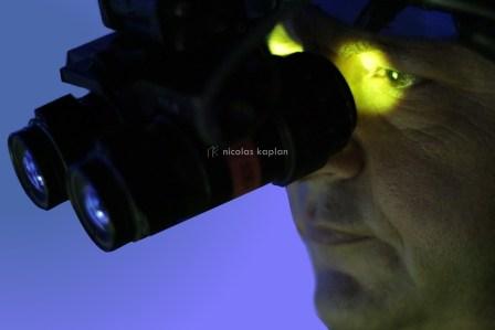 Casque Gueno (à amplification d'intensité lumineuse) - Matériel de l'armée - Photographie pour plaquette commerciale de la société Helisim (simulation de pilotage d'hélicoptères à Marignane)