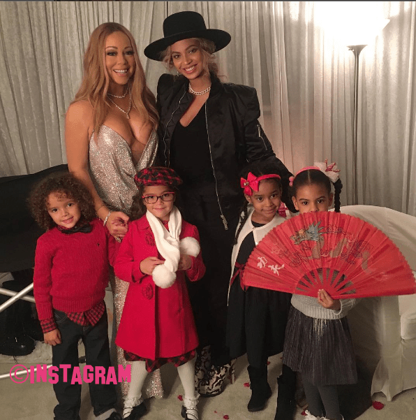 Blue Ivy Carter Poses With Mum Beyonce And Mariah Carey Backstage