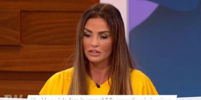 Katie Price Shows Off Her £5,000 Cheeks And Jawline Procedure On Loose Women