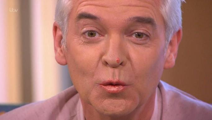This Morning Viewers Go Wild As Phillip Schofield Tries on Orange Lip Gloss