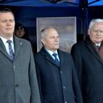 Od lewej: Tomasz Siemoniak, Minister Obrony Narodowej, Szef Biura Bezpieczeństwa Narodowego - Stanisław Koziej i Sekretarz Stanu w KRP - Olgierd Dziekoński
