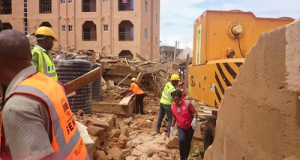 3-storey Building Collapses at Oko, Anambra State