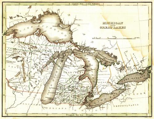 1835 michigan map
