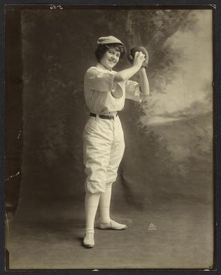 female-baseball-player