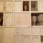 Columbarium wall at Woodmere