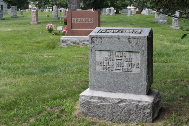 Julius Carlin 1842-1911 Delila Carlin 1855-1923, Grand Lawn Cemetery