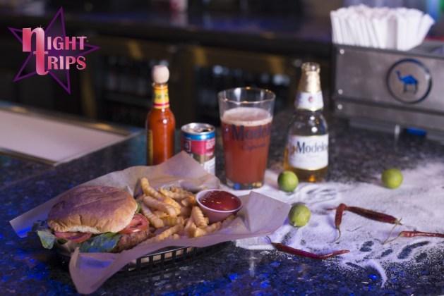 Night Trips Hamburgers and Modelo