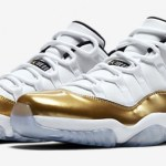 "『直リンク』8月27日発売 NIKE AIR JORDAN 11 RETRO Low ""White/Metallic Gold"""